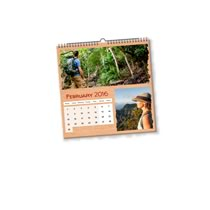 1 x 21cm x 21cm Personalised Desk Calendar incl Delivery