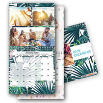 2 x 30x30cm Double Personalised Calendar incl Delivery