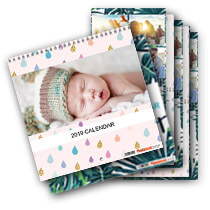 5 x 30x30cm Double Personalised Calendar incl Delivery